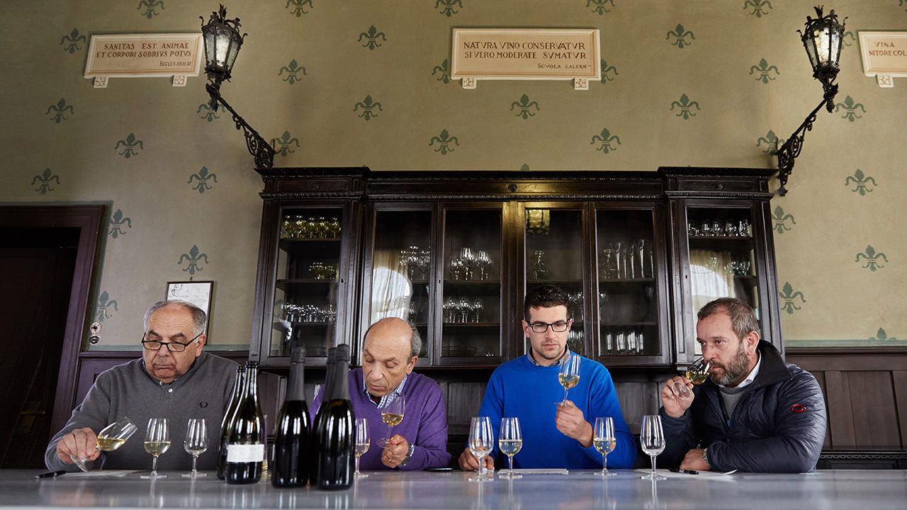 Tasting of our wines at the Conegliano Oenology School.