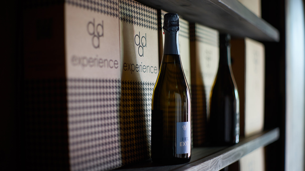 Our bottles in the cellar, kept at a controlled temperature.